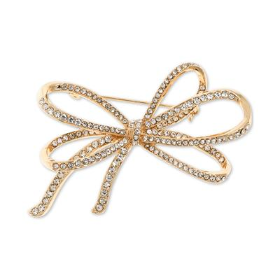 Anne Klein Pave Bow Pin, Created for Macy's - Gold
