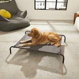 FurHaven Reinforced Elevated Dog Bed, Espresso, Medium