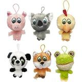Multipet Knobby Noggins Plush Dog Toy, Character Varies