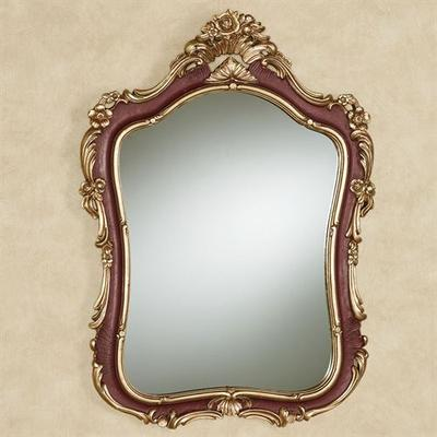 Langston Wall Mirror Burgundy , Burgundy