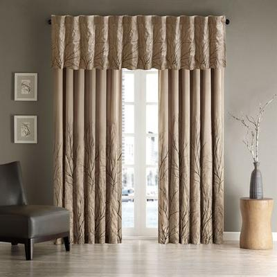 Andora Curtain Panel, 50 x 95, Gray