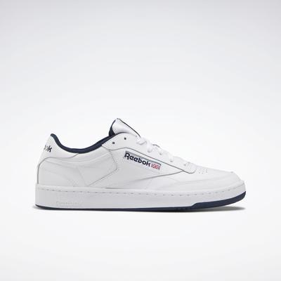 Reebok Unisex Club C 85 Men's Shoes in White/Navy Size M 11.5 / W 13 - Court,Lifestyle Shoes