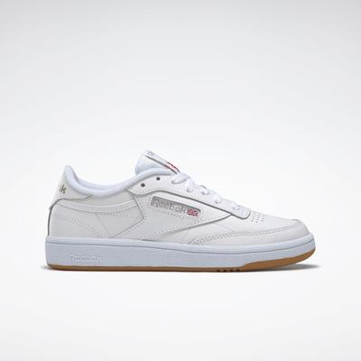 Reebok Shoes Women's Club C 85 Women's Shoes in White/Light Grey/Gum Size 11 - Court,Lifestyle Shoes