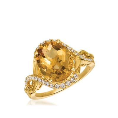 Le Vian Honey Gold Creme Brulee 4.0 ct. t.w. Cinnamon Citrine, 1/3 ct. t.w. Nude Diamonds™ Ring in 14K Honey Gold™