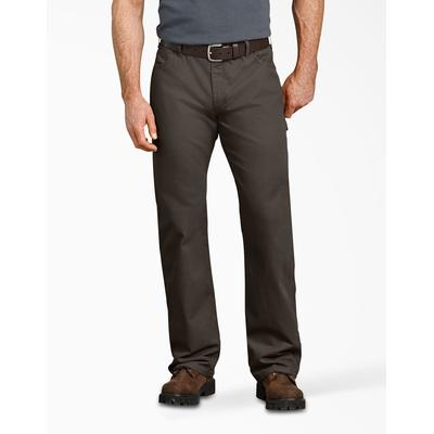 Dickies Men's Relaxed Fit Straight Leg Carpenter Duck Jeans - Olive Green Size 32 30 (DU250)