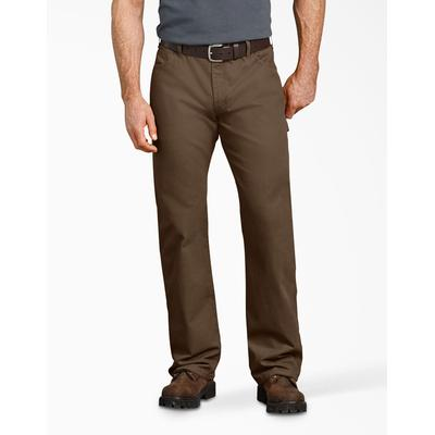 Dickies Men's Relaxed Fit Straight Leg Carpenter Duck Jeans - Timber Brown Size 38 30 (DU250)