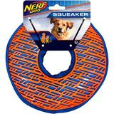 Nerf Dog Squeaker TPR Force Grip Ring Dog Toy, 8.5-in