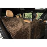 Plush Paws Products Quilted Velvet Waterproof Hammock Car Seat Cover, Chocolate, X-Large