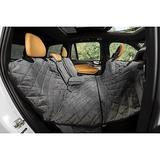 Plush Paws Products Quilted Velvet Waterproof Center Console Access Hammock Car Seat Cover, London Grey, Regular