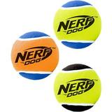 Nerf Dog Squeak Tennis Ball Dog Toy, 3 count