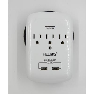 Metra Helios 3 Outlet 2 USB Wall Tap
