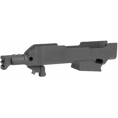 Midwest Industries Ruger Pc Carbine Side Folder Chassis - Rugerpc Carbine Side Folder Chassis Black