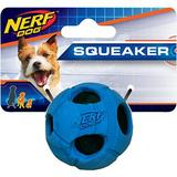 Nerf Dog Squeaker Bash Tennis Ball Dog Toy, Blue, Small