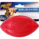 Nerf Dog Squeaker Wave Football Dog Toy, 5.5-in