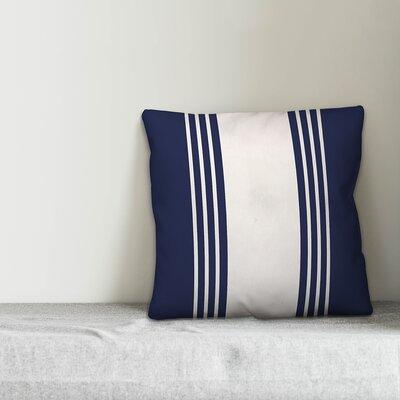 Gracie Oaksgracie Oaks Mablethorpe Stripe Throw Pillow X112531515 Color Navy White Size 16 X 16 Fill Material Polyester Polyfill Dailymail