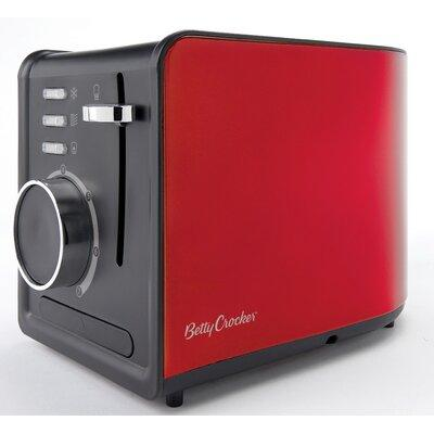 Details about Betty Crocker RA28381 2 slice Toaster, Brushed Stainless Steel