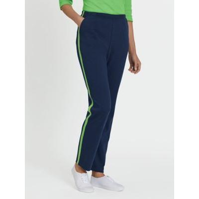 Women's Petite Fresh Sport Pants, Navy/Lime S