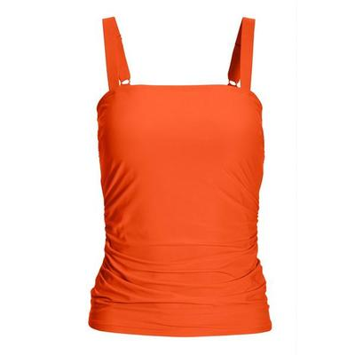 Boston Proper - Swim Sense Square-Neck Tankini Top - Hot Coral - Hot Coral - X Large