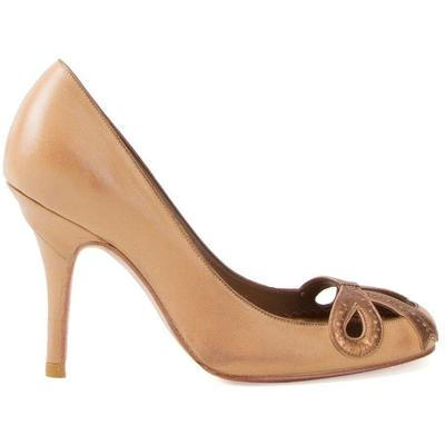 Women\\\'s Sarah Chofakian High-heel Pumps - Brown - Pumps Brown leather high-heel pumps from Sarah Chofakian. Material:Goat Skin. This item may not be on sale in France, UK, Italy, Belgium and Switzerland.