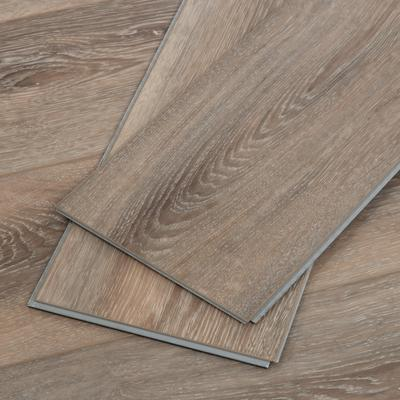 Embossed Wood Grain Vinyl Flooring Sample