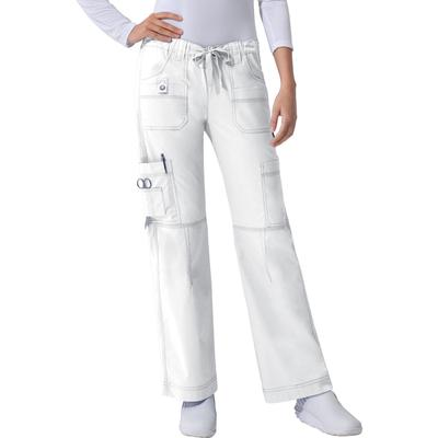 Dickies Women's Gen Flex Youtility Cargo Scrub Pants - White Size L (857455)