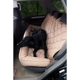 3 Dog Pet Supply - 3 Dog Pet Supply Quilted Car Back Seat Protector with Bolster, Tan