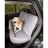 3 Dog Pet Supply - 3 Dog Pet Supply Quilted Car Back Seat Protector with Bolster, Grey