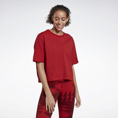 Reebok Women's High Intensity Studio Tee in Legacy Red Size S - Studio Apparel