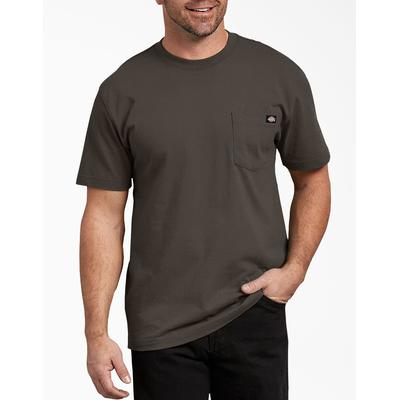 Dickies Men's Short Sleeve Heavyweight T-Shirt - Black Olive Size 4 (WS450)