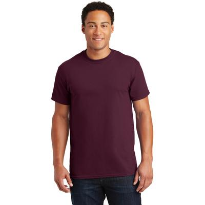 Gildan G200 Adult Ultra Cotton 6 oz. T-Shirt in Maroon size 3XL G2000, 2000