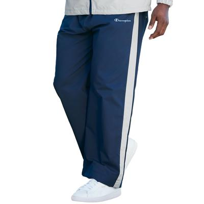 Men's Big & Tall Champion Track Pants in Navy Grey (4XLT) Polyester