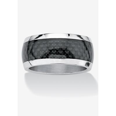 Men's Big & Tall PalmBeach Jewelry Checkerboard Ring in Stainless Steel (11)
