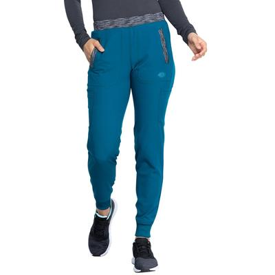 Dickies Women's Dynamix Tapered Leg Jogger Scrub Pants - Caribbean Blue Size XL (L10001)