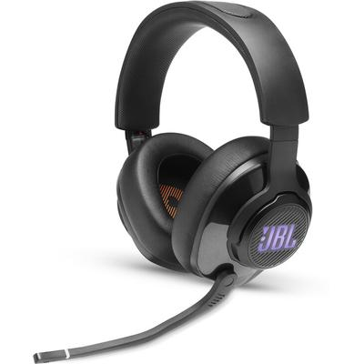 gaming heaphones (black) closed-back headset with attached boom mic and game/chat balance dial,50mm drivers and JBL QuantumSURROUND and DTS headphones:X v2.0 sound processing,connect to console or PC: includes one 3.5mm miniplug cable and a USB-C to...