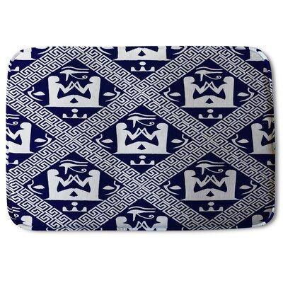 Bloomsbury Market Biddeford Hieroglyphs Designer Rectangle Non Slip Bath Rug Polyester In Navy Size 24 H X 17 W X 24 D Wayfair Ibt Shop