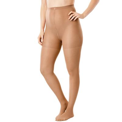 Women's 2-Pack Control Top Tights by Comfort Choice in Suntan (Size A/B)