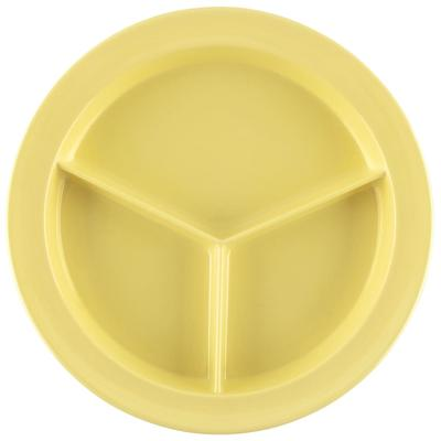 GET CP-530-Y 9 Round Dinner Plate w/ (3) Compartments, Melamine, Yellow on Sale