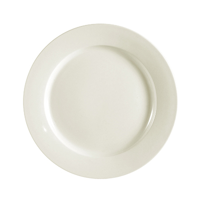 CAC REC-16 American White Rolled Edge Dinner Plate, REC, Round on Sale