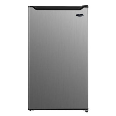 Danby DCR033B1SLM 3.3 cu ft Compact Refrigerator w/ Chiller Compartment – Silver, 115v