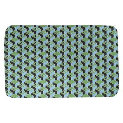 Brayden Studio Brayden Studio Skyscrapers Pattern Rectangle Non Slip Geometric Bath Rug Polyester In Green Teal Size 17 W X 24 L Wayfair Dailymail