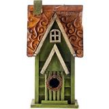 Glitzhome - Glitzhome Distressed Solid Wood Bird House, 11.93-in