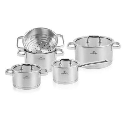 Maximahousemaximahouse Maximahouse Prestige 9 Piece Stainless Steel Cookware Set Stainless Steel Wayfair Sv318m Dailymail