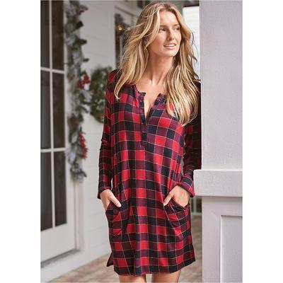 Short Sleepshirt Pajamas & Sleep - Black/Red