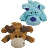 KONG Cozie Marvin the Moose Plush Dog Toy, Medium & KONG Cozie Baily the Blue Dog Toy