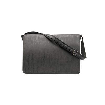 Men's Big & Tall KingSize Messenger Bag in Black Leather