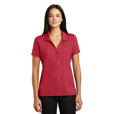 Sport-Tek LST630 Women's Embossed PosiCharge Tough Polo Shirt in Deep Red size Medium | Polyester