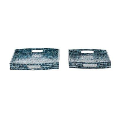 Latitude Run Esmeray 2 Piece Serving Tray Set Plastic Acrylic In Black Size Extra Large Over 17 W Wayfair C8584100946d4b518a2618cca0bbc68d Shefinds