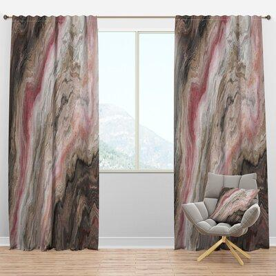Design Art Handdrawn Tropical Floral Semi Sheer Thermal Rod Pocket Single Curtain Panel Size Per Panel 52 W X 63 L Polyester Linen In Pink Wayfair Sportspyder