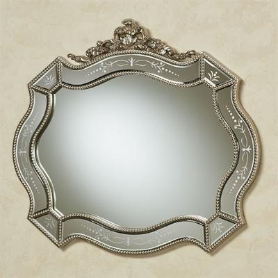 Vivienne Wall Mirror Antique Silver , Antique Silver