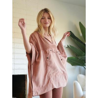 Day Drifter Poncho - Brown - Free People Knitwear